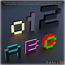 80s ARCADE Letters & Numbers Set3 image 1