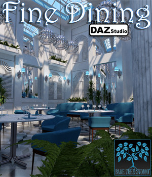 Fine Dining for Daz Studio 3D Models BlueTreeStudio
