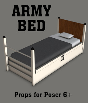 Army Bed 3D Models gmm2