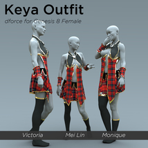 Keya Outfit for Genesis 8 Female image 7