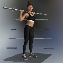 Swole: Free Weights for Genesis 3 and 8 Females image 4