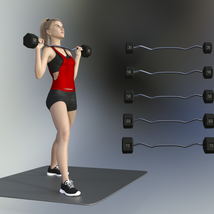 Swole: Free Weights for Genesis 3 and 8 Females image 6