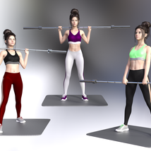 Swole: Gym Poses for Genesis 3 and 8 Females image 3
