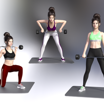 Swole: Gym Poses for Genesis 3 and 8 Females image 4