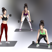 Swole: Gym Poses for Genesis 3 and 8 Females image 5