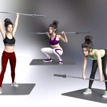 Swole: Gym Poses for Genesis 3 and 8 Females image 9
