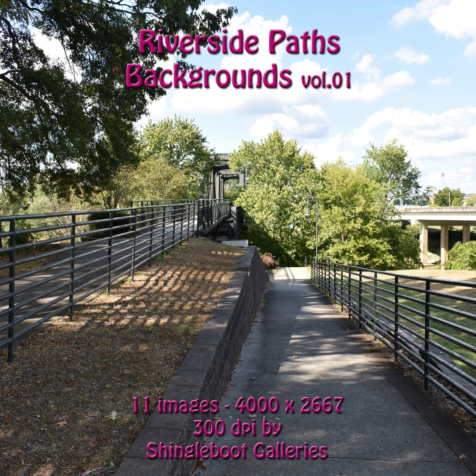 Riverside Paths Backgrounds vol.1 by shingleboot