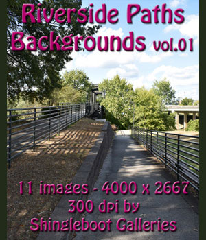 Riverside Paths Backgrounds vol.1 2D Graphics shingleboot
