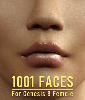 1001 Faces for G8 females 3D Figure Assets powerage