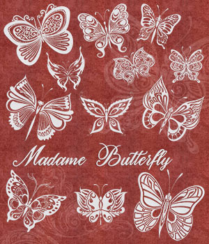 Madame Butterfly 2D Graphics Merchant Resources Atenais