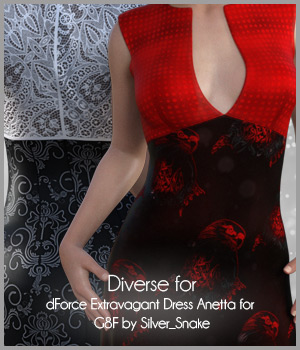 Diverse for Extravagant Dress 3D Figure Assets antje