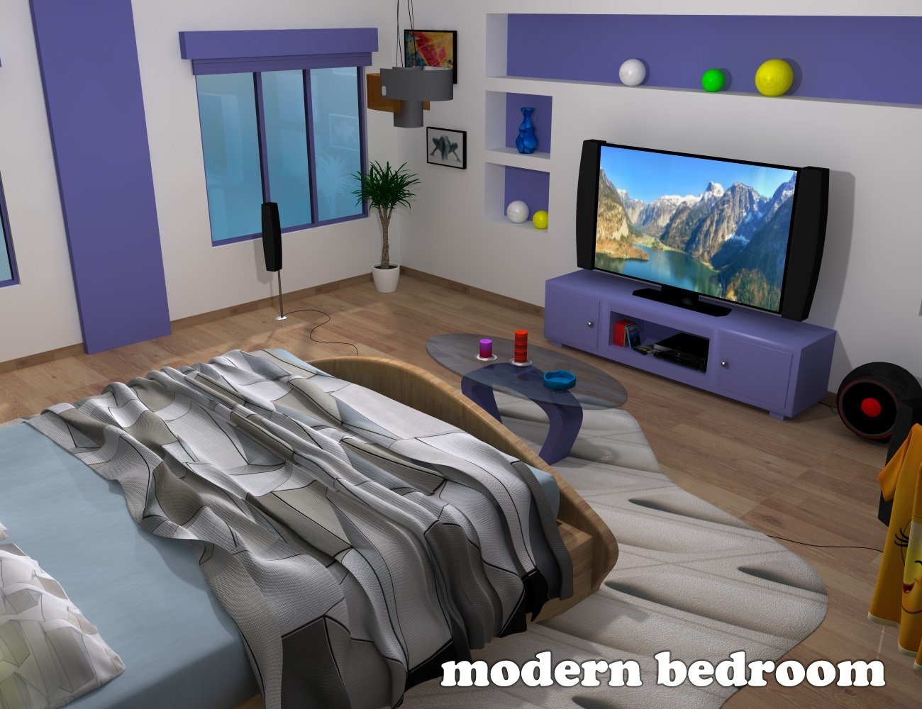 Modern Bedroom - Extended License by greenpots
