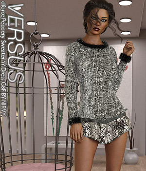 VERSUS - dforce Peppery Sweater n Dress G8F 3D Figure Assets Anagord