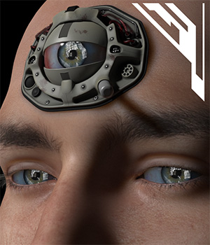 3rd Eye Implant for Poser and DS 3D Figure Assets 3D Models coflek-gnorg