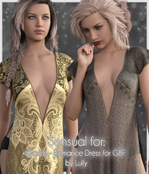 Sensual for Romance Dress 3D Figure Assets antje