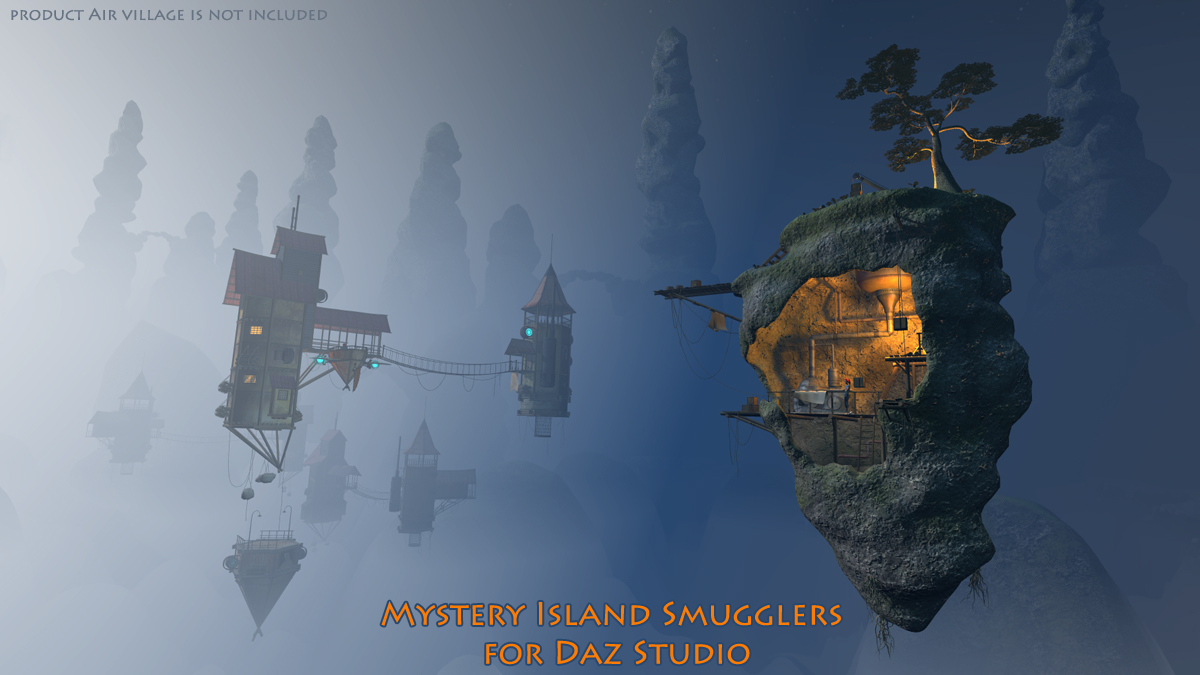 Mystery Island Smugglers for Daz Studio by 1971s