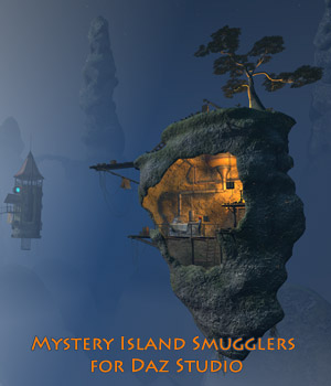 Mystery Island Smugglers for Daz Studio 3D Models 1971s