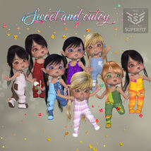 DA-Sweet and cutey for Kit or Peepot Overalls-1 image 1