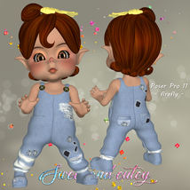 DA-Sweet and cutey for Kit or Peepot Overalls-1 image 2