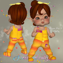 DA-Sweet and cutey for Kit or Peepot Overalls-1 image 3