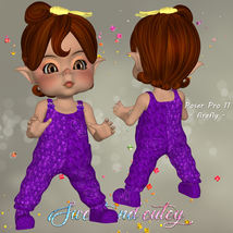 DA-Sweet and cutey for Kit or Peepot Overalls-1 image 4