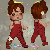 DA-Sweet and cutey for Kit or Peepot Overalls-1 image 9