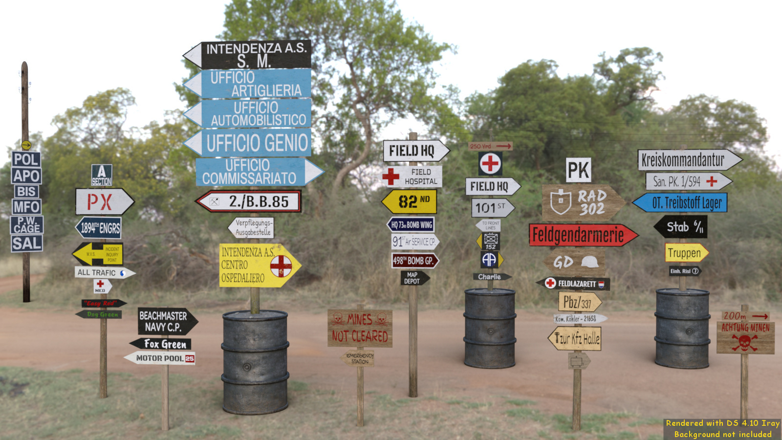 WWII Roadsigns 2