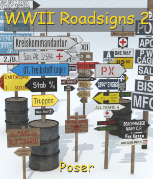 WWII Roadsigns 2 3D Models andreasgr