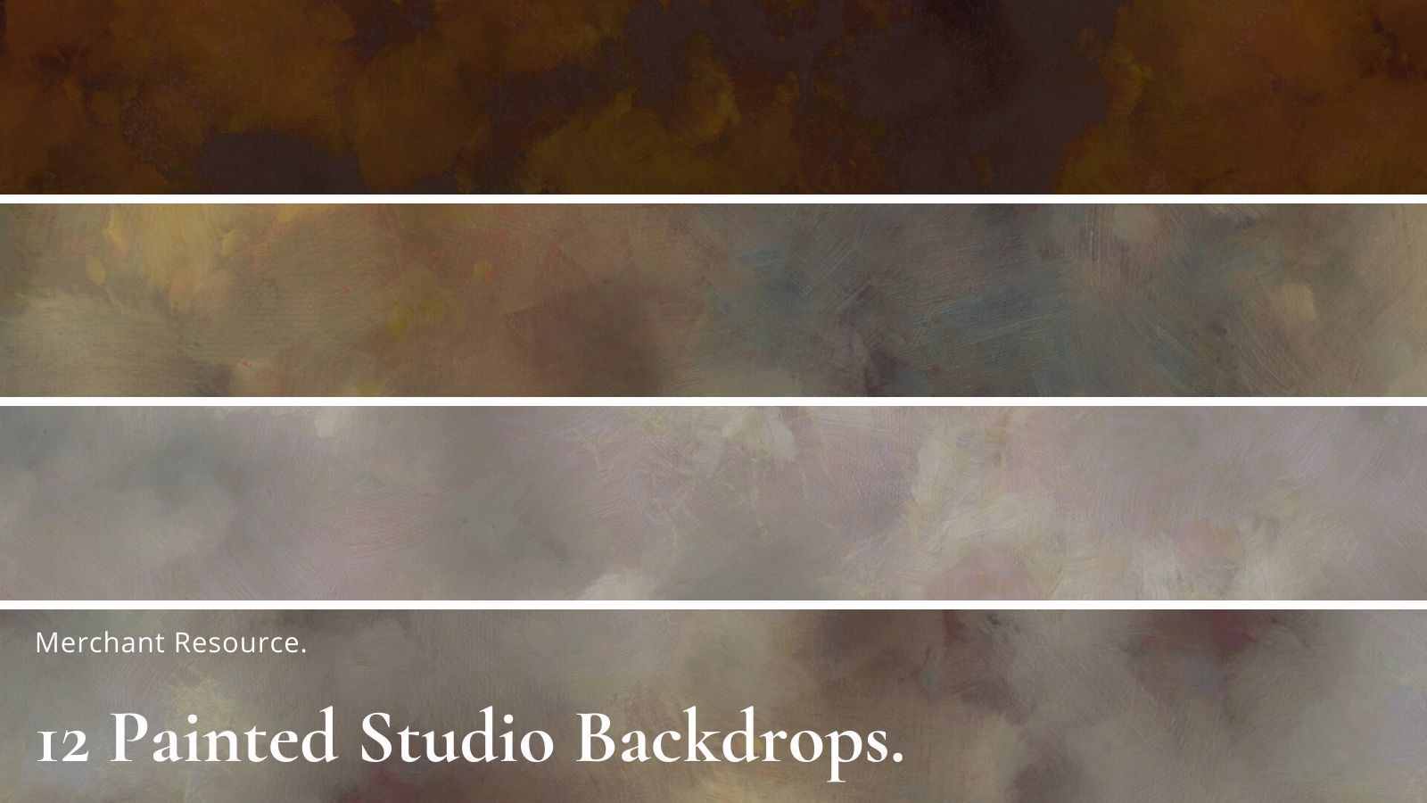 12 Painted Studio Backdrops by Annikmi