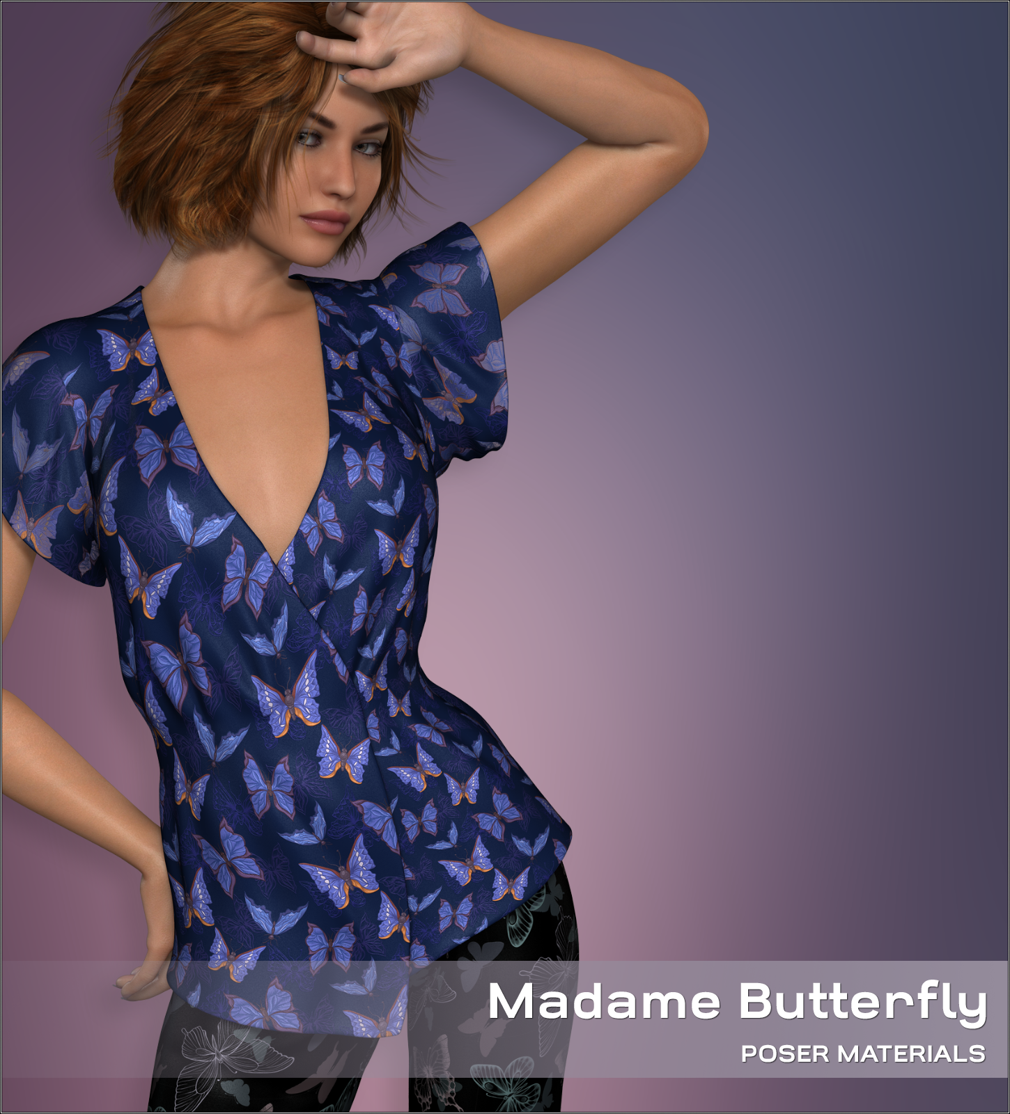 Poser - Madame Butterfly by Atenais