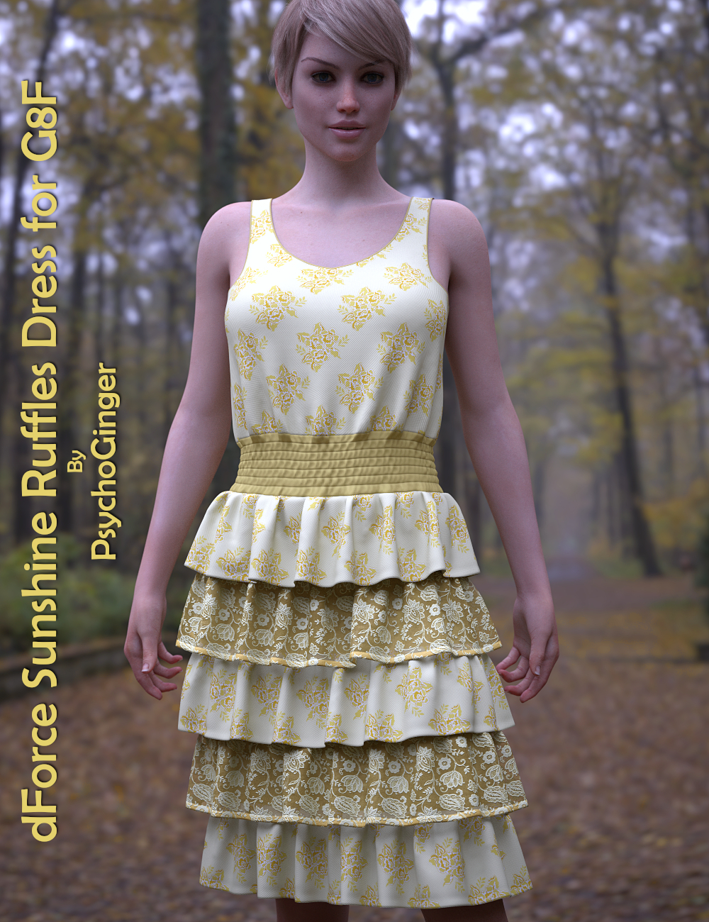 dForce Sunshine Ruffles Dress for G8F by PsychoGinger