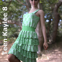 dForce Sunshine Ruffles Dress for G8F image 6