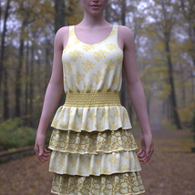 dForce Sunshine Ruffles Dress for G8F image 8