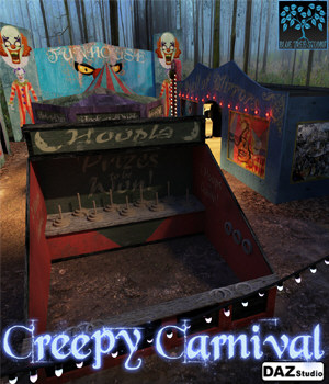 Creepy Carnival for DAZ Studio 3D Models BlueTreeStudio