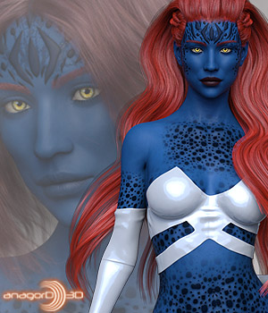 Indigo HD for Victoria 8  3D Figure Assets Anagord