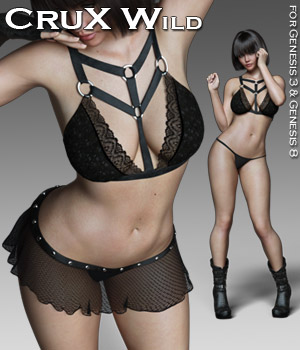 CruX Wild for the G3 and G8 Females 3D Figure Assets Rhiannon