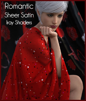 Romantic Sheer Satin Iray Shaders 2D Graphics 3D Figure Assets antje