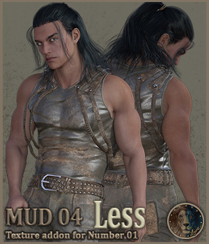 Mud 04 Less for Lyones Number 1 3D Figure Assets Lyone