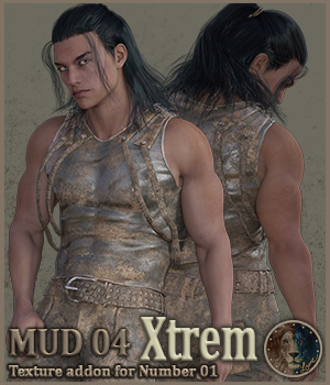 Mud 04 Xtrem for Lyones Number 1 3D Figure Assets Lyone