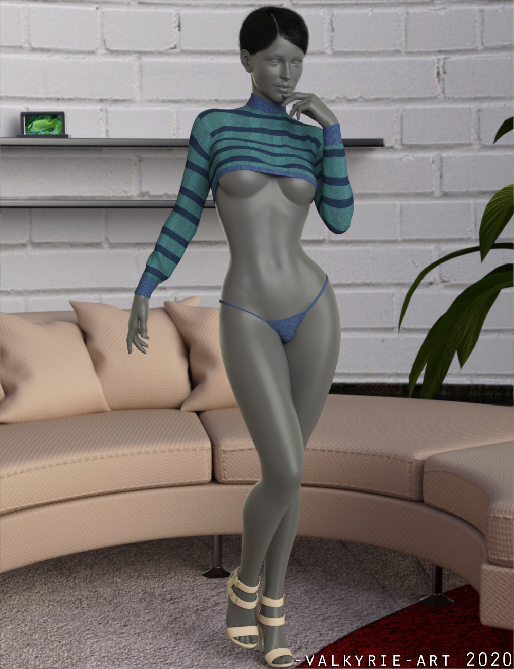InStyle - dForce Strip Outfit by -Valkyrie-