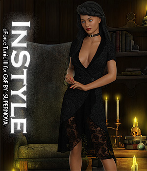 InStyle - dForce Tunic III for G8F 3D Figure Assets -Valkyrie-