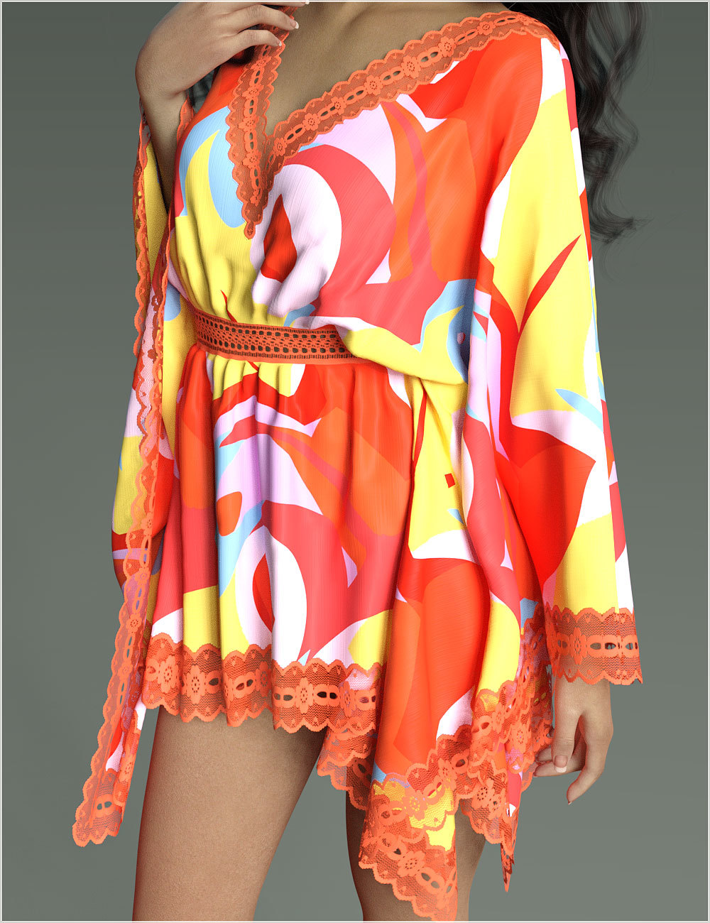 Stylish For dForce - Short Kaftan by Belladzines