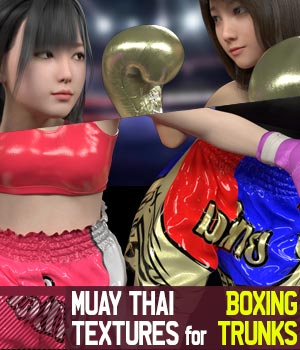 Muay Thai Textures for Boxing Trunks 3D Figure Assets gravureboxing
