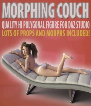 Morphing Couch for Daz Studio 3D Models hameleon