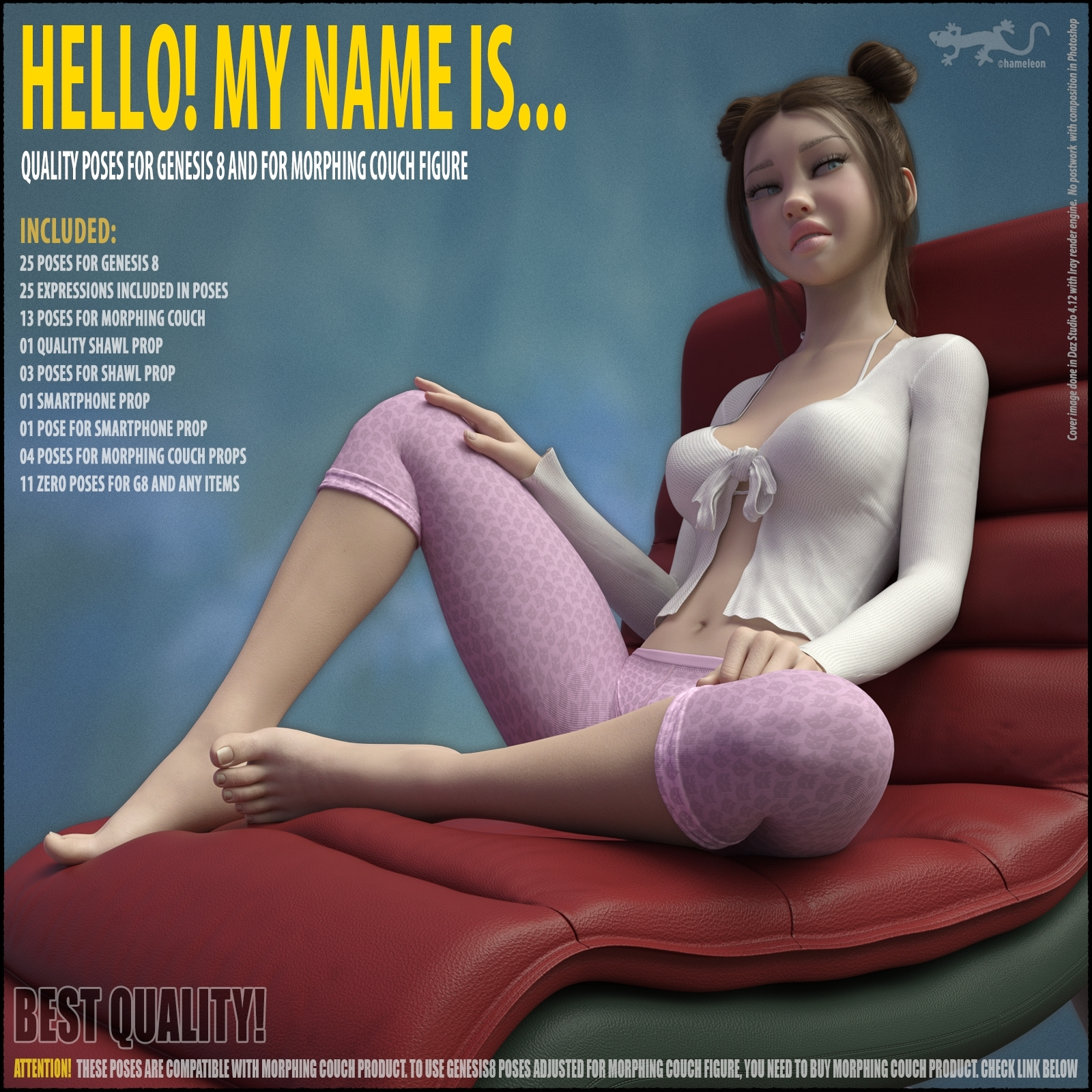 Hello! My Name Is... - Poses for Genesis 8. Part I by hameleon