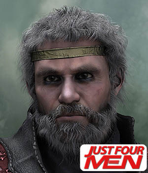 Poser Hair 'Em2 - Just Four Men 3D Figure Assets MortemVetus