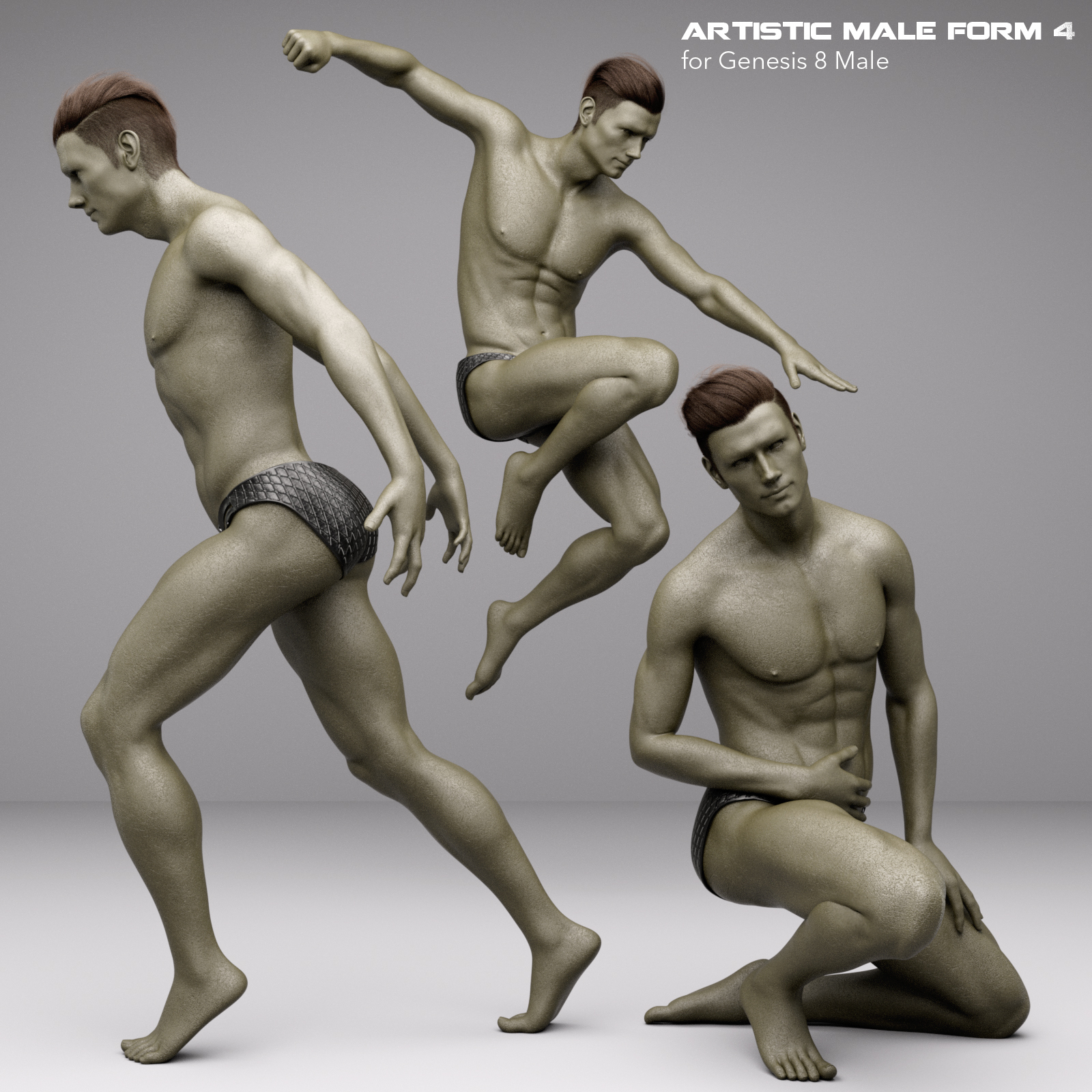 Artistic Male Form 4 for Genesis 8 Male