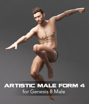 Artistic Male Form 4 for Genesis 8 Male 3D Figure Assets P7ArtJ5