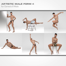 Artistic Male Form 4 for Genesis 8 Male image 2