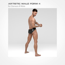 Artistic Male Form 4 for Genesis 8 Male image 5